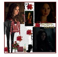 The vampire diaries katherine pierce  8x16 i was feeling epic ❤️🖤😭😭 by aria1987 on Polyvore featuring LE3NO, J Brand, Alaïa, Nearly Natural, tvd, KatherinePierce and tvdforever