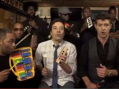 """Jimmy Fallon & The Roots Cover """"Blurred Lines"""" With Robin Thicke"""