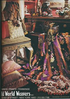 """""""Old World Weavers"""" by Iris Apfel Event Photography, Photography Backdrops, British Colonial Decor, Southern Accents, Old World, Colour Book, Color, Chic, Fabric"""