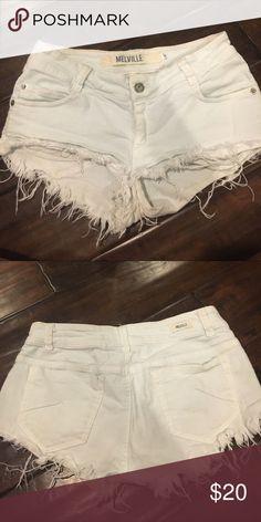 Brandy Melville Denim Shorts White Brandy Fringe Shorts Brandy Melville Shorts Jean Shorts