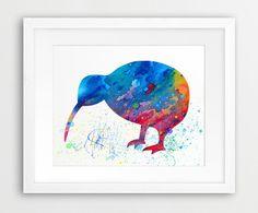 Kiwi Bird Watercolor Printable File Kiwi Bird от synplus на Etsy