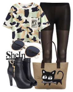 """""""SheIn"""" by deedee-pekarik ❤ liked on Polyvore featuring Tshirt, camouflage, shein and camouflagetshirt"""