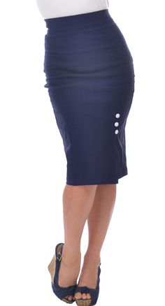 Steady Clothing Joan Skirt in Navy | Blame Betty