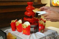 Funny pictures about Ketchup fountain. Oh, and cool pics about Ketchup fountain. Also, Ketchup fountain photos. Ketchup, Fondue Fountain, Redneck Party, Chocolate Fountains, French Fries, Hot Sauce Bottles, Just In Case, Make It Yourself, Funny Stuff