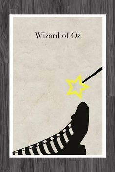 Wizard of Oz Fairy Tale Poster Art 11x17. $14.99, via Etsy.