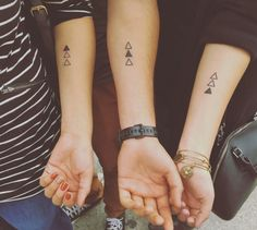 Sibling tattoo triangles