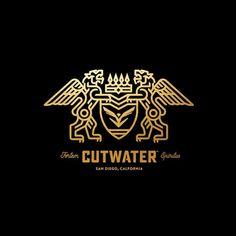 Follow us  @logoinspirations Cutwater by @briansteely - ONLINE COURSE  http://ift.tt/2geIf0d -  LEARN LOGO DESIGN  @logocore @logocore @logocore