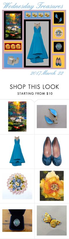 """""""Wednesday Treasures"""" by anna-ragland ❤ liked on Polyvore featuring Notte by Marchesa, contemporary and vintage"""