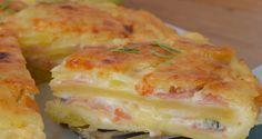 Πατατόπιτα με τυρί, ζαμπόν και μπεσαμέλ