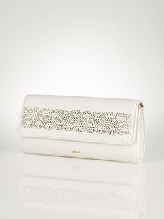 Laser-Cut Envelope Clutch - Lauren Lauren Handbags  - RalphLauren.com