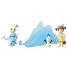 The Snow Sisters playset by hasbro features Anna & Elsa in their movie-inspired pajamas, set also includes several accessories & a snow slide for seemingly endless frosty fun! Anna Disney, Disney Frozen, Disney Princess, Frozen Characters, All Toys, Toys Online, Disney Toys, Kids Store, Fairy Dolls