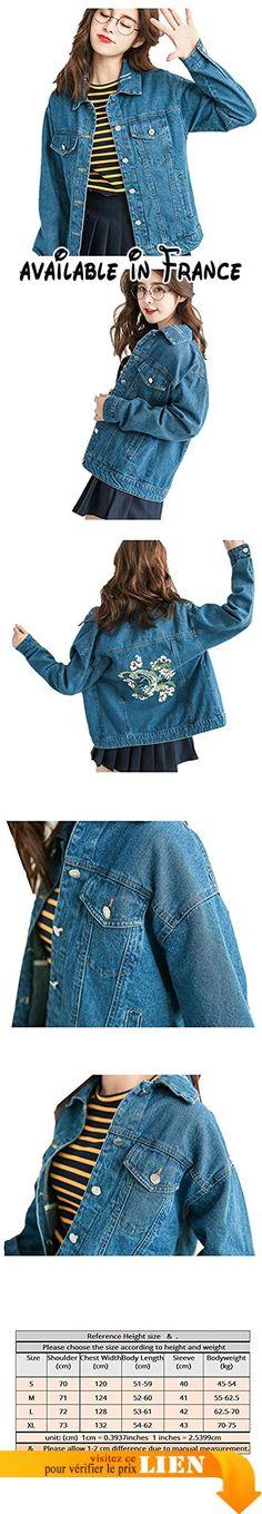 B06Y4RT8SD : De nouvelles grandes poches veste cow-boy rétro goût lâche denim veste femme cowboy marée court paragraphe veste courte femme  S. Type de veste: Veste. Sexe: Femme. Décoration: broderie. Forme: Solide. Style: décontracté