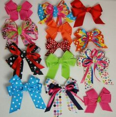 how to make girls hair bows.  Includes tip of sewing an anchor stitch in the center to hold in place, great idea when making bows with younger girls.  Another cute idea: moms  daughters build a bow party  let the girls chose which layers to stack.  Bow Dazzling Volunteers, a single prong alligator clip is easier to attach to a stretchy headband.