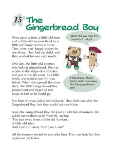 Grade 2 Reading Lesson 15 Fables And Folktales – The Gingerbread Boy