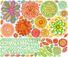 Radiant Flowers - Floral Peel & Place | (another paint project inspiration)