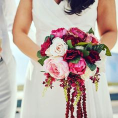 This stunning bouquet was put together by the bride herself for her Santorini Wedding. We do have the most talented brides don't we!  . . . #weddingflowerinspo #weddingflowerideas #weddingbouquet #winecolouredbouquet #DIYbride #peonies #pinkpeonies #rusticbouquet #trailingbouquet #uniquebouquet #destinationweddingplannerchester  #awardwinningweddingplanners  #tbcweddings #thebridalconsultant  #luxuryweddingsabroad  #weddingdetails  #seaviewweddings #beachweddingsabroad  #beachweddings…