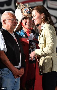 The Duchess of Cambridge meets chiefs from the Heiltsuk First Nations community...