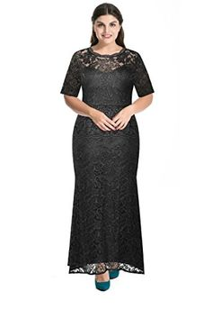 New Trending Pants: Myfeel Plus Size Lace Dress 2 layers Sheath Patchwork Cocktail Maxi Evening Gown (4X, Black). Myfeel Plus Size Lace Dress 2 layers Sheath Patchwork Cocktail Maxi Evening Gown (4X, Black)   Special Offer: $35.99      433 Reviews Promotion will end on 26th May.the normal retail price is 39.99USD1X 2X length is 60 inch,3x 4x length is 61.5 inch.5X length is 62.5 inch.Specifically for...