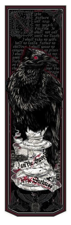 Game of Thrones Night's Watch Banner by Rhys Cooper