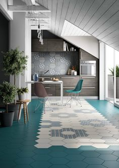 Indoor ceramic wall/floor tiles INES by Officina Italiana