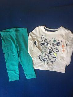 NWT Gymboree 12-18 Months Girl's Two Piece Bird Outfit Set #Gymboree