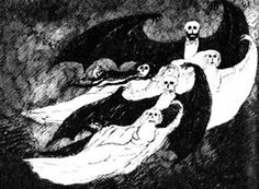 Edward Gorey illustration from A Clutch of Vampires: These Being Among the Best from History & Literature by Raymond T. McNally (1974)