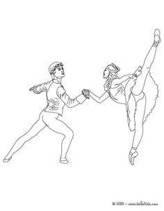 Ballet Dancers Dancing Coloring Page