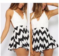 Ziczac Playsuit Only $25.99 Message, Email, or Comment to place an order skyeboutique68@gmail.com Size : XS, S, M,L #SkyeBoutique #Playsuit