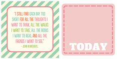 More cute printables... - One Happy Mama | a life of happiness and craftiness