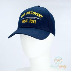 ea989845bce2e Star Trek Hat Discovery USS Discovery Embroidered Geeky