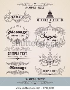 Vector decorative design thai elements - Lots of useful elements to embellish your layout - Line thai - Set of vintage design elements and f...
