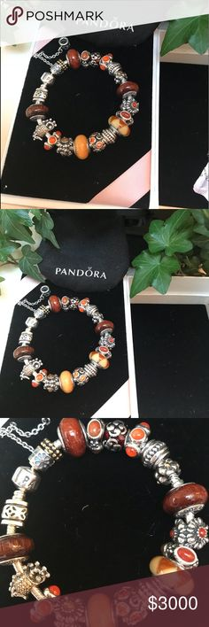 New Leather Pandora Jewelry BoxStores CharmBraceletRing Gift