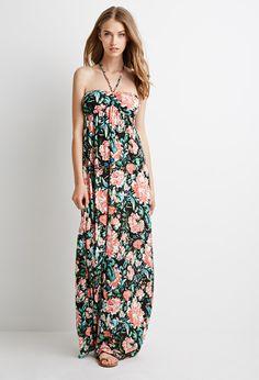 floral print halter dress.