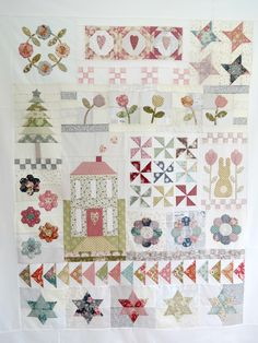 My new quilt design called 'A little happy year' made using pretty Tilda fabrics…