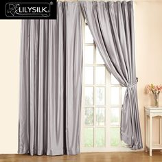 Aliexpress.com : Buy LILYSILK Silk Curtain 19 Momme New Classical Living Room Windows Silk Drape Pinch Pleat Header Free shipping from Reliable curtain plastic suppliers on Lilysilk