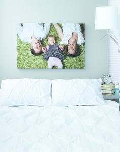 "A Family Portrait Canvas Print | Enter to win a free canvas print from CanvasPop simply by repinning from our ""CanvasPop Pin to Win Contest"" board 