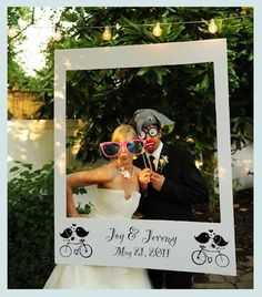 Fun alternative for guest book. Have a photo of couples and families taken to add to album later.