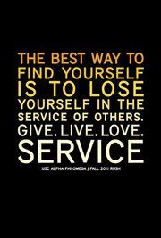 All about the service. In this culture of selfishness we need to encourage service in our children and model it ourselves.