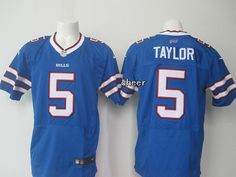 Men's Buffalo Bills #5 Tyrod Taylor Royal Blue Team Color NFL Nike Elite Jersey