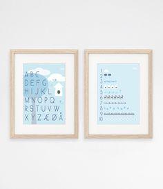 Print | ABC & 1-10 | blå