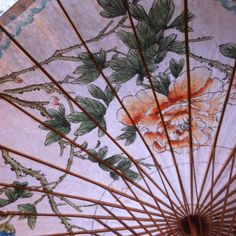 Love vintage parasols and paper Chinese lanterns