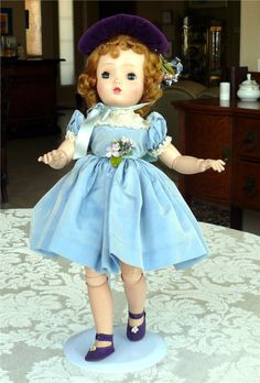 "Vtg. Madame Alexander Sweet Violet Walker Doll, 18"" Hard Plastic, Fully Jointed #DollswithClothingAccessories"