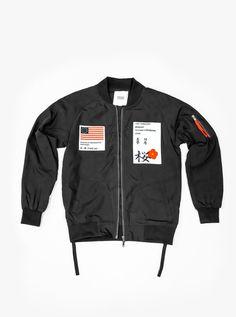 Aeronautics Nylon Flight Jacket in Black - Profound Aesthetic - 1