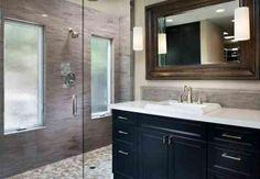 carrelage gris de cabine de douche moderne