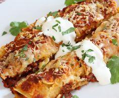 Pork Picadillo Enchiladas