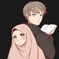 kumpulan kartun romantis parf 2 - my ely Couple Illustration, Illustration Art, Love Cartoon Couple, Cute Muslim Couples, Islamic Cartoon, Anime Muslim, Hijab Cartoon, Islamic Girl, Relationship Goals Pictures