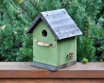 "Rustic Birdhouse ~ ""The Cabin"""