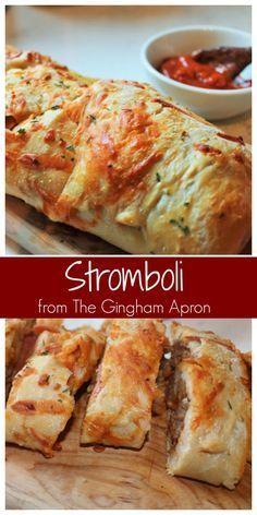 Stromboli Stromboli- An easy and fun way to make homemade pizza.Stromboli- An easy and fun way to make homemade pizza. Homemade Stromboli, Making Homemade Pizza, Easy Stromboli Recipe, Calzone Recipe With Pizza Dough, Stromboli Recipe Pepperoni, Crust Pizza, Pizza Pizza, Pizza Recipes, Appetizer Recipes