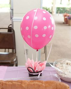 Kristy Lin Photography: Dr. Seuss: Oh, the places you'll go Baby Shower - hot air balloon utensil holder