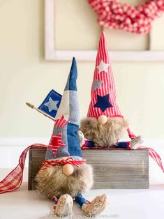 Learn how to make gnomes with arms and legs for the 4th of July. These patriotic gnomes with arms and legs are a fun addition to your Independence Day decor. But really this step by step tutorial will show you how to make gnomes with arms and legs for any season! Christmas Crafts For Gifts, Christmas Gnome, Craft Gifts, Diy Gifts, Christmas Decor, Christmas Ideas, Primitive Christmas, Christmas Presents, Holiday Ideas